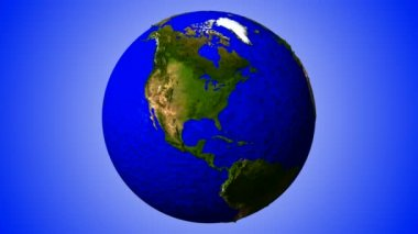 3D Looping Geo Globe. Alpha Channel — Stock Video