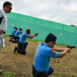 Asian police firearm shooting practice — Stockfoto