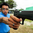 Asian police firearm shooting practice — Foto Stock
