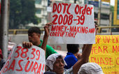 Militant anti-government protest — Stock Photo