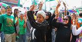 Muslim Peace talk rally — Stock Photo