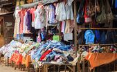 Ukay-ukay clothing for sale — Stock Photo
