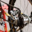 Bicycle chain and sprocket — Stock Photo