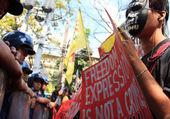 Internet freedom protest — Stock Photo