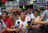 Coco farmers levy fund claim stages series of protest in Manila — ストック写真