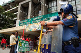 Coco farmers levy fund claim stages series of protest in Manila — Stok fotoğraf