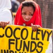 Постер, плакат: Coco farmers levy fund claim stages series of protest in Manila