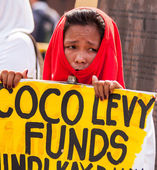 Coco farmers levy fund claim stages series of protest in Manila — Foto de Stock