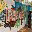 Worlds longest peace mural — Stock Photo