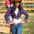 Rodeo festival cowgirl — Stock Photo