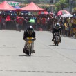 Motorcycle drag race — 图库照片