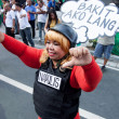 Graft and corruption protest in Manila, Philippines — Stock Photo