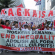 Stock Photo: Graft and corruption protest in Manila, Philippines