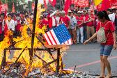 Anti-government protest during 150th birthday of Andres Bonifacio — Stock Photo