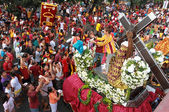 Catholic biggest procession during feast of Black Nazarene — Stock Photo