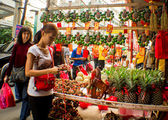 Chinese new year in China town — Stock Photo