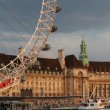 London Eye against County Hall — Stock Photo