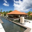 Outdoor spa therapy lounge in the tropics - Stock fotografie