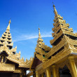Beautiful temple structures encircling main pagodof Shwedagon, Yangon, Myanmar. — Stock Photo #12038319