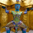 Grand mythical figure from the buddhist temple of Grand Palace, Bangkok Thailand. — Stock Photo #12038444