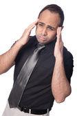 青年実業家を受けるストレスの頭痛. — ストック写真