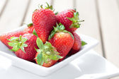 Bowlful of fresh ripened strawberries — Stock Photo