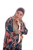 Beautiful mature and confident Muslim woman in scarf. — Stock Photo