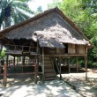 ' Rumah Lotud'' ( Lotud House ), at Monsopiad Cultural Village, Sabah, being one of the typical type of traditional tribal house atypically found in Sabah, Borneo. — Stock Photo
