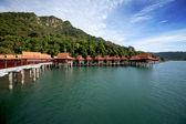 Beautiful holiday resort on a tropical island. — Stock Photo