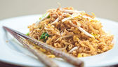 Delicious stir fried oriental noodle with vegetables — Stock Photo