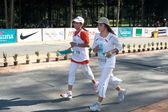 PHUKET, THAILAND - 13 JUNE: Participants completing the 5km marathon at Laguna, Phuket, Thailand 13 June 2010. — Photo
