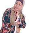 Beautiful mature Muslim womin scarf — Stock Photo #19611117