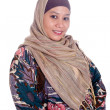 Beautiful mature Muslim woman in scarf — Stock Photo #19611183