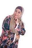 Beautiful mature Muslim woman in scarf — Stock Photo