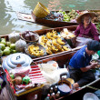 Damnoean Saduak floating market - Stock Photo
