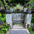 Lovely tropical outdoor shower area by a pool - ストック写真
