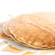 Heavenly soft pancakes for breakfast — Stock Photo