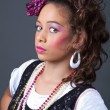 Young girl dressed in 80s style — Stock Photo