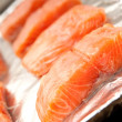 Fresh salmon steak - Stock Photo