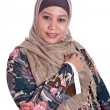 Confident Muslim woman in scarf, isolated — Stock Photo