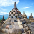 Borobudur temple in Jogjakarta - Stock Photo