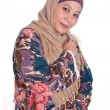 Beautiful and confident Muslim womin scarf, isolated. — Stock Photo #19829255