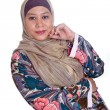 Beautiful mature Muslim woman in scarf — Stock Photo #19829823