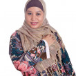 Beautiful mature Muslim woman in scarf — Stock Photo