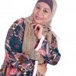 Beautiful mature Muslim womin scarf — Stock Photo #19829899