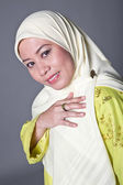 Beautiful and confident Muslim woman in scarf — Stock Photo