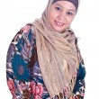 Beautiful happy mature Malay Muslim womin scarf — Stock Photo #20694353