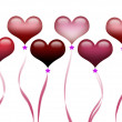 Illustration of floating heart shape balloons for special occasion. — 图库照片