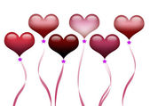 Illustration of floating heart shape balloons for special occasion. — Stock Photo
