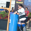 Stock Photo: TOPAYOH, SINGAPORE - MARCH 24 : Contender for StrongmKeith Wong in his 300kg yoke walk in StrongmChallenge 2012 on March 24, in ToPayoh Hub, Singapore.